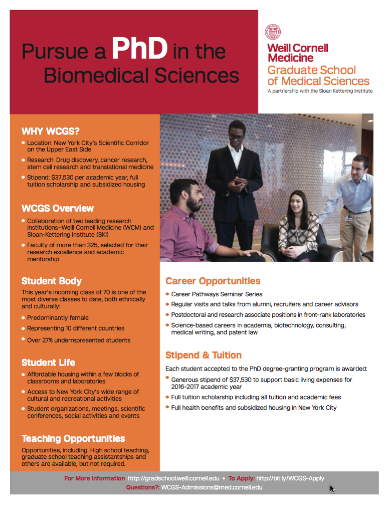 WCM Grad School BioMed PhD